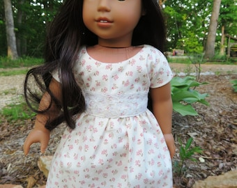"18"" Floral Doll Dress  , fits like AG clothes"