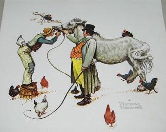 Vintage Horse Trader Norman Rockwell Print 11740