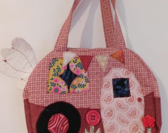 "Handmade Kitschy Camper Bag 9"" x 10"" x 3"" One of a Kind"