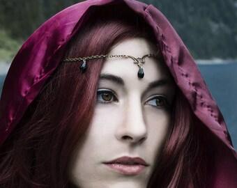 Dark & Light Circlet - Gothic Jewelry - Fairy Circlet - Gothic Circlet - Elven Circlet - Fairy Headdress - Victorian Circlet - Elven Jewelry
