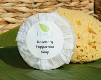 Rosemary Peppermint Soap, Cold Process Soap, Palm Oil Free, Vegan Friendly