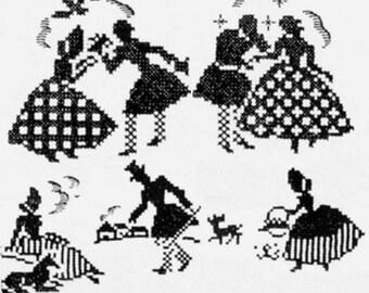 Southern Belle - Crinoline Lady & Beau Courting pattern cross stitch mo865