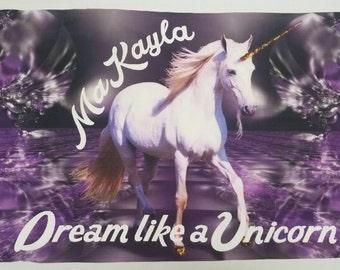 Unicorn Pillow Case Custom unicorn pillow case Unicorn decor Unicorn lover gift Unicorn pillow case Custom pillow case Magic unicorn pillow