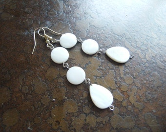 Simply Angelic Mother of Pearl Beaded Dangle earrings