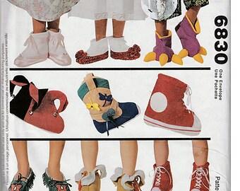 Fancy Feet / Children's Novelty Slippers / Original McCall's Crafts Uncut Sewing Pattern 6830