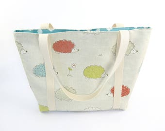 Canvas Shoulder Tote Bag, Knitting Tote Bag, Canvas Tote Bag, Canvas Shoulder Bag, Diaper Bag, Mom Bag, Mothers Day Gift Idea, Beach Bag