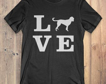 Bloodhound Dog T-Shirt Gift: I Love Bloodhound