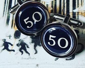 Vintage Typewriter Keys 50 Cufflinks