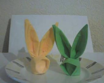 Bunny Easter napkin folding