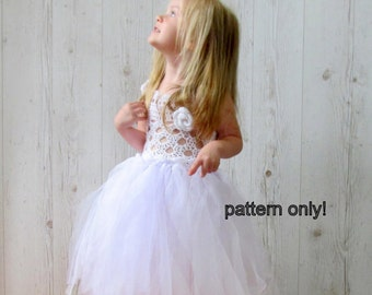 Crochet tulle dress  pattern, Crochet PATTERN, Tutu dress pattern, crochet tulle dress, Baby party dress pattern ,baby dress pattern,  0-3T