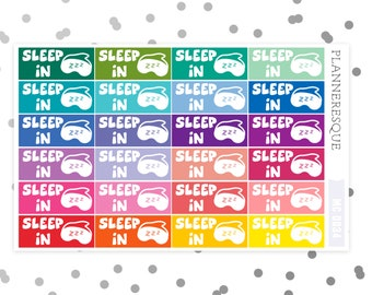 24 Sleep In Label Stickers - Erin Condren Planner Stickers - MC 0034