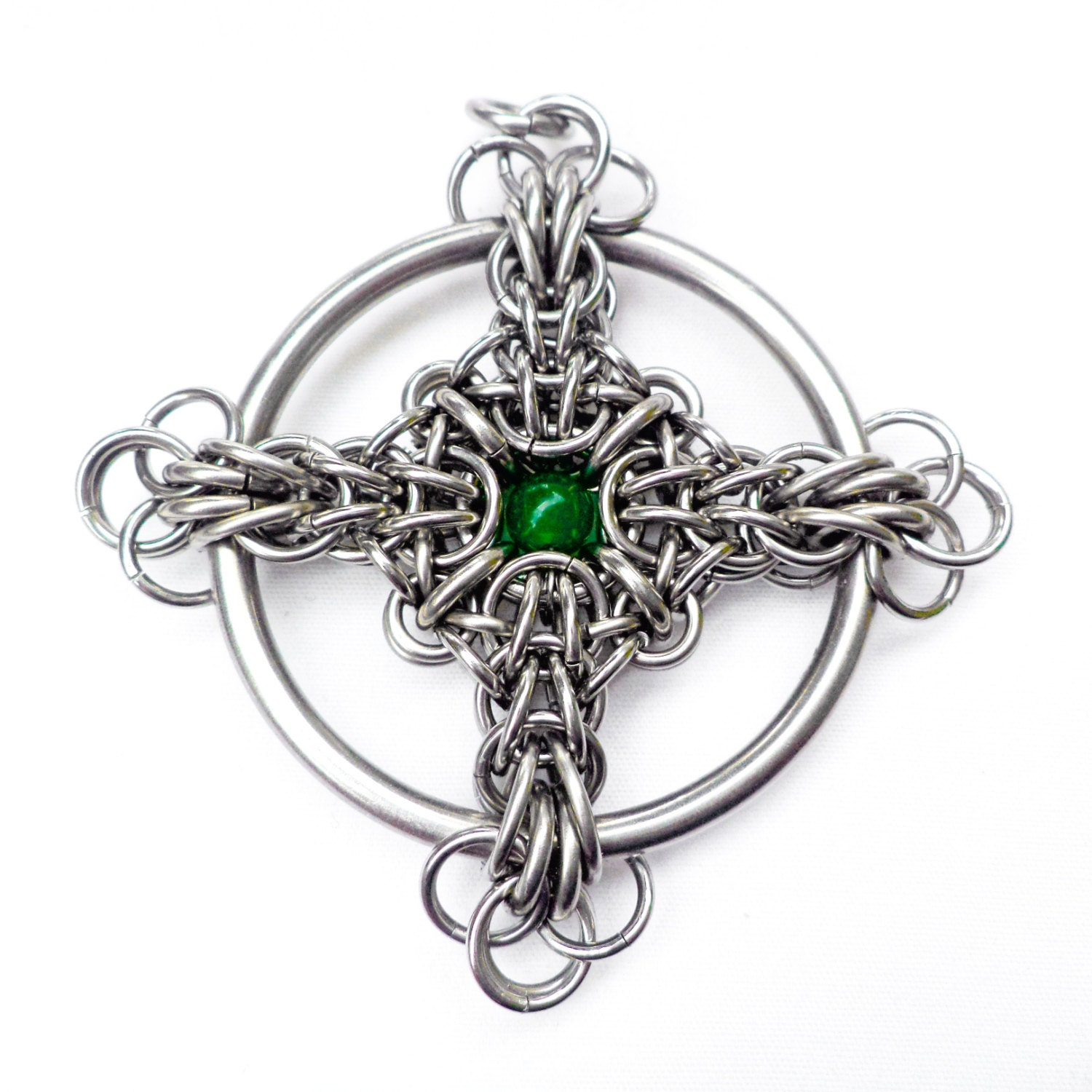 Tutorial for Celtic Cross Chain Maille Pendant in both square and ...