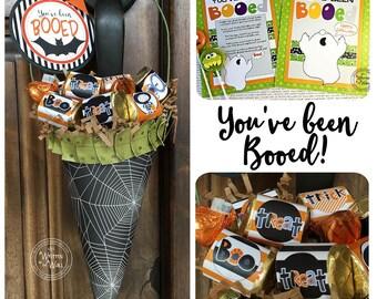 You've been Booed, We've Been Booed Print & Tags, Halloween Trick or Treat, Treat Holder, Tutorial, Neighbor Treats, Teacher Appreciation