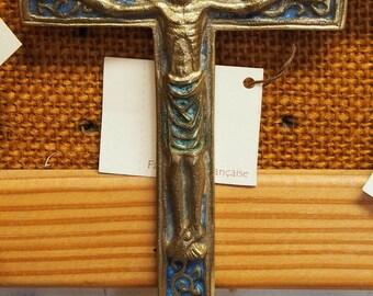 Medieval style Bronze Cross with Jesus