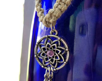 dream catcher jewelry, dream catcher necklace, dream catcher, hemp jewelry, hippie jewelry women, hippie necklace, macrame necklace, woven