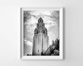 San Diego Art Balboa Park Museum of Man Black and White Photograph, Architecture Art - 8x10 or 11x14 Fine Art Giclée Print - FREE SHIPPING