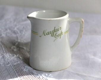 Diner ware / vintage restaurant ware / creamer / milk jug / cafe china / industrial chic