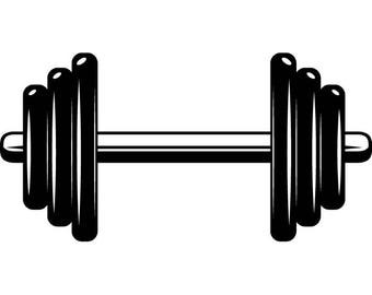 dumbbell clip art etsy rh etsy com workout clipart workout clipart pictures
