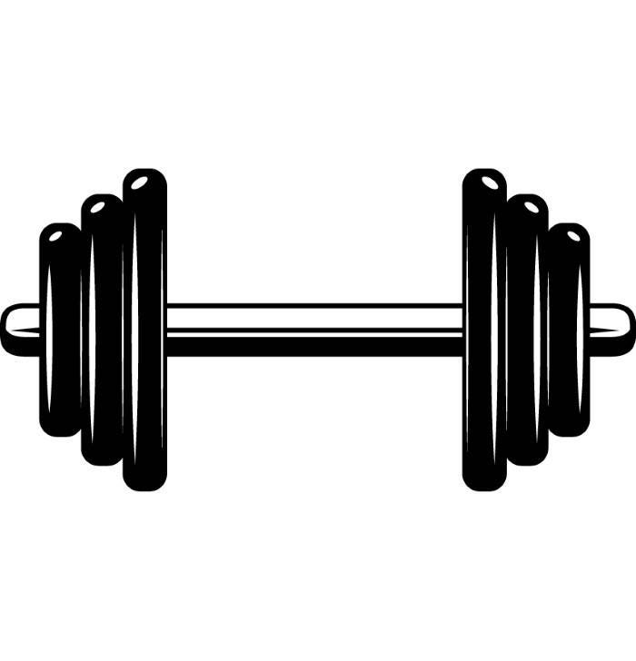 dumbbell 3 weightlifting bodybuilding fitness workout gym rh etsy com workout clipart workout clip art free