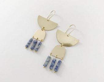 Tri Lapis Earrings