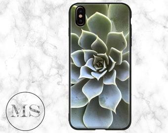 Succulent Case for iPhone X, 8, 8 Plus, 7, 6s, 6s Plus, 6, 6 Plus, 5, 5s, SE, cheap, floral, green, botanical, modern