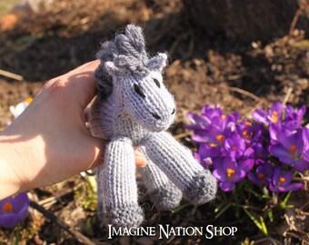 Mini Franklin: Baby Colt, Plush Pony, Stuffed Horse, Natural Waldorf Toy