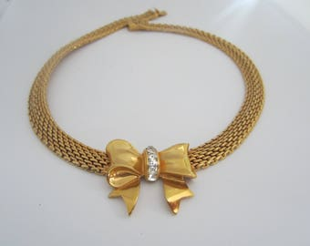 Lovely Vintage Mesh Bow Necklace-FREE SHIPPING (US)