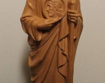 """Saint Jude 8 1/4"""" Molded Plastic Statue"""