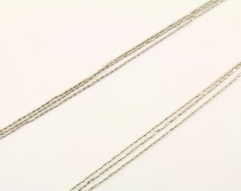 Vintage Italy Three Thin Chains Necklace 925 Sterling Silver NC 936