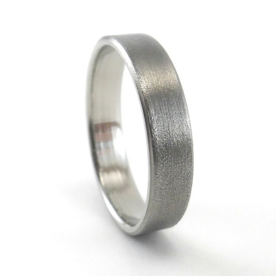 Brushed Finish Ring Womens Wedding Ring Stainless Steel