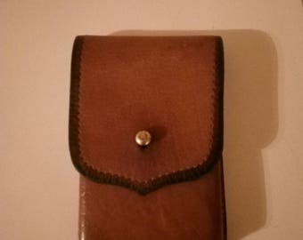 Cigarette case of real leather