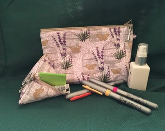 Cosmetic bag and coin purse