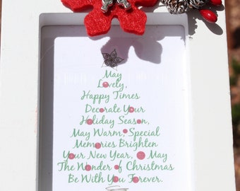 Holiday Ornament/ Easel Back Frame ... The Wonder of Christmas - Choose RFed Frame or White Frame