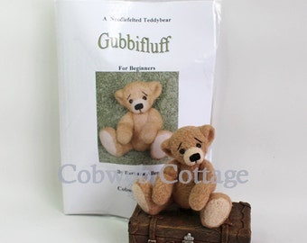 KIT - Gubbifluff - Beginners Needle felting Kit - Teddybear