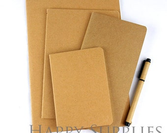 Blank Kraft Cover Notebooks. Wholesale / Bulk. Notepad. Sketchbook. Notebook Journal (NO LOGO or Marks on Cover)