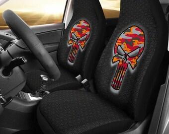 Tampa Bay Buccaneers/Punisher/Camo/Car/Micro Fiber/Seat Covers/NFL/Tampa Bay/Buccaneers/Football/Skulls/Gifts/Mens/Ladies