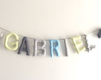 Garland name in fabric (made to order)