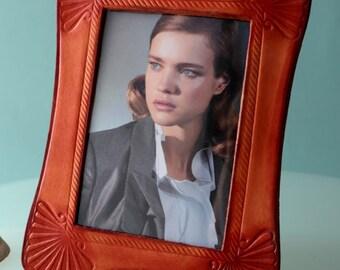 Bridal Shower Photo Booth Frame. Photo Frame. Leather Photo Frame. Engraved frame. Leather frame. Picture frame. Family photo frame.