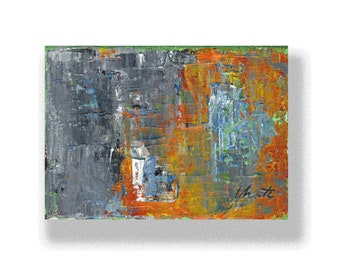 "Abstract Painting. ""Grey Orange"""
