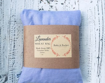 Heat Cold Pack Irish Linen Organic Lavender Wheat Pack Heat Cold Bag Microwaveable Washable Heating Pad Purple