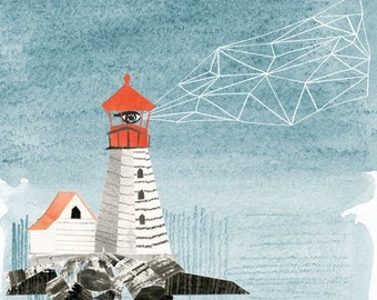 Lighthouse Archival Print by Lindsay Gardner
