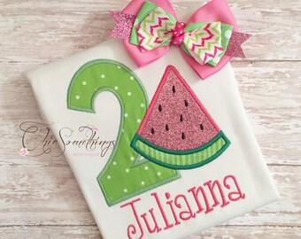 Watermelon shirt, watermelon Tutu, First Birthday tutu, pink green watermelon shirt, watermelon birthday, watermelon outfit, watermelon tutu