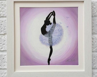 Dandelion Ballerina, Fine Art, Giclee Print, Dancing Ballerina, UK Seller.