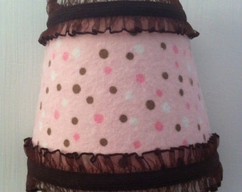 PInk, Brown and White Polka Dot Night Light