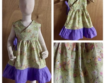 Easter Boho Wrap Dress, size 3t