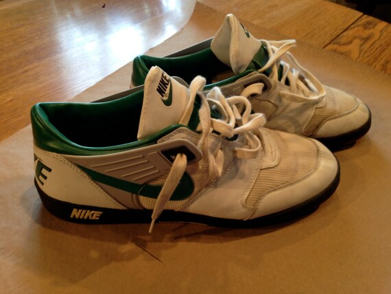Items similar to Nike Football Astro Turf Shoes size 14 White & Kelly Green  mens used, Good Shape. Philadelphia Eagles Vintage colors on Etsy