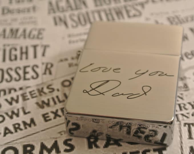 1935 Style Handwritten Zippo Vintage Lighter His Gift Personalized Groomsman Husband