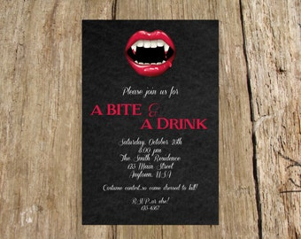 Vampire Halloween Party Invitation