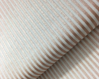 Stripe in Rose Gold Metallic from Riley Blake, Rose Gold Metallic, Wedding Fabric, Stripes, Cotton Fabric, Choose the Cut