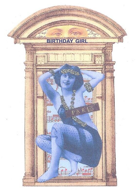 Birthday Card Birthday Card Art Nouveau Exotic Dancer